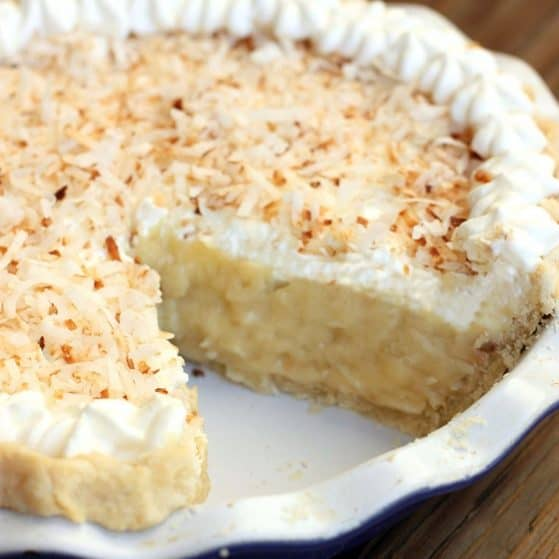 Perfect for the Holidays! Delicious coconut cream pie!