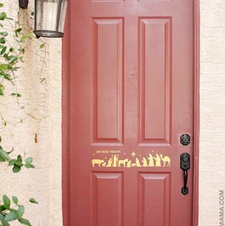 DIY Christmas Nativity Door Decal