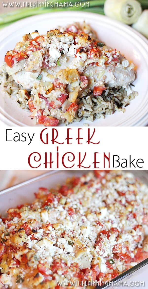 Easy Dinner Recipe Greek Chicken Bake The Pinning Mama