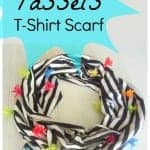 Stripe and tassels scarf