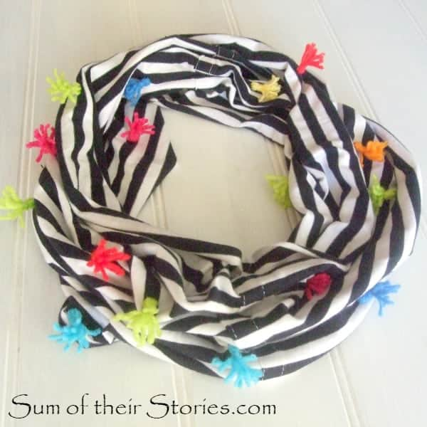 Tshirt infinity scarf tassel