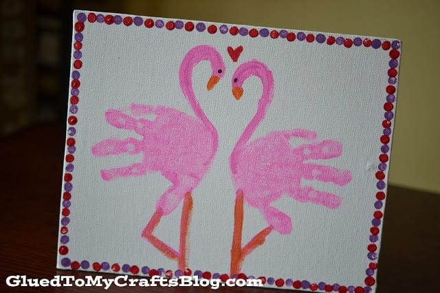 Image result for handprint flamingo glued to my crafts
