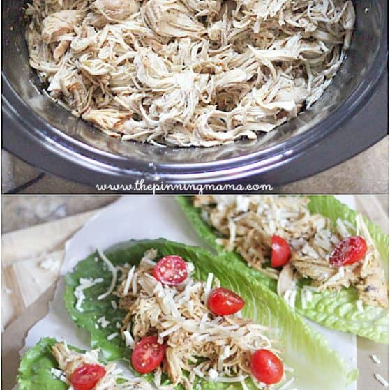 3 ingredients and so YUMMY! Crock pot Caesar Chicken!