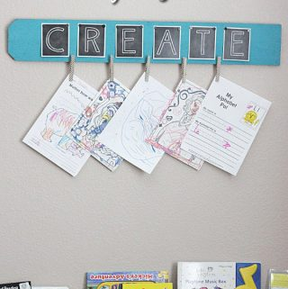 $5 + 30 Minute Kid's Artwork Display Board