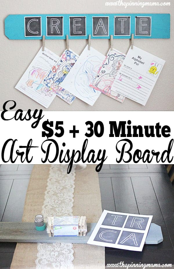 Who knew it was so easy to make something so cute! Kid's Art Display Board at thepinningmama.com
