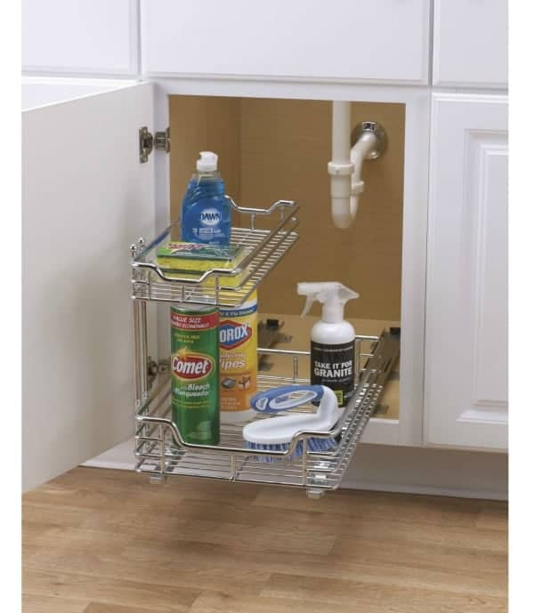Cool! The drawers are configurable to go around the pipes under your cabinet!