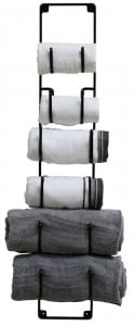 Great way to organize towels in the bathroom!  Lots of bathroom organization ideas on thepinningmama.com