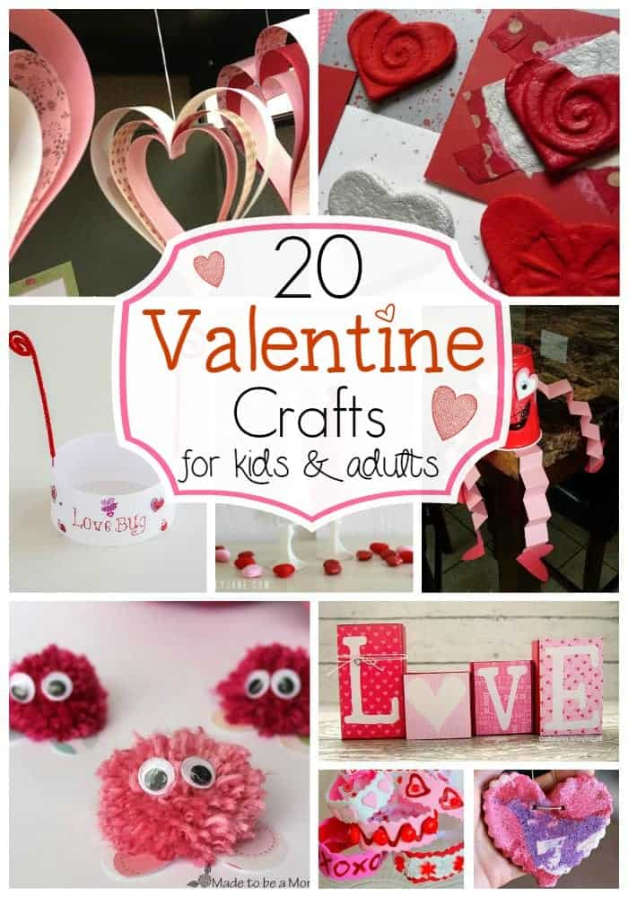 20 Valentine Crafts for Kids & Adults-The Pinning Mama