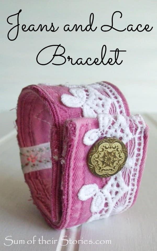 Jeans and Lace bracelet