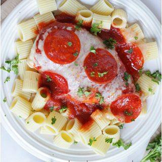 {Easy Dinner Recipe} Pizza Chicken Bake