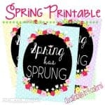 Say Good-Bye to Winter with this Spring Printable