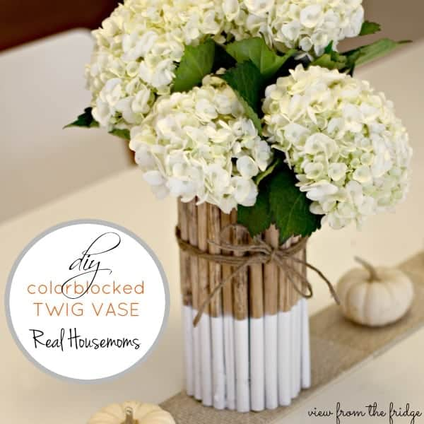 Hand dipped twig vase makes a great gift for Mother's Day, don't forget her favorite flowers!