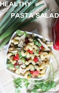 Easy Asian Chicken Pasta Salad Recipe via thepinningmama.com