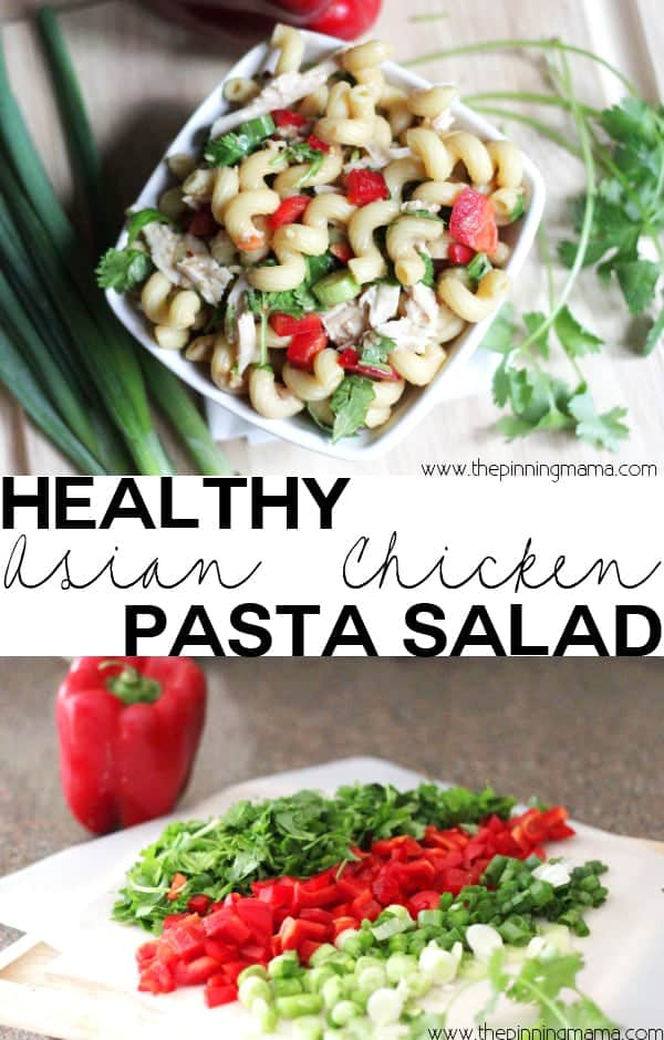 Easy Asian Chicken Pasta Salad Recipe The Pinning Mama