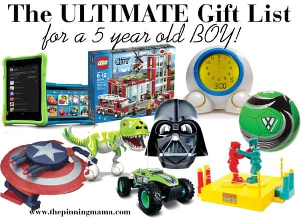 The ULTIMATE List of Gift Ideas for a 5 Year Old Boy! | The ...