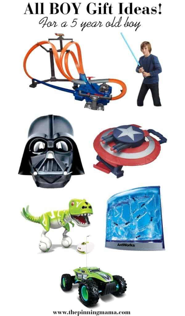 Best Boy Gifts for a Five Year Old Boy! Including Hot Wheels, Star Wars, Super Heros, Dinosaur toys, and remote control cars.