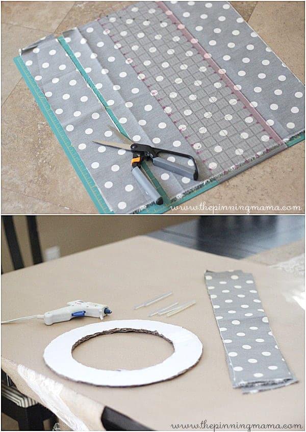 How to make a no sew ruffle wreath via thepinningmama.com