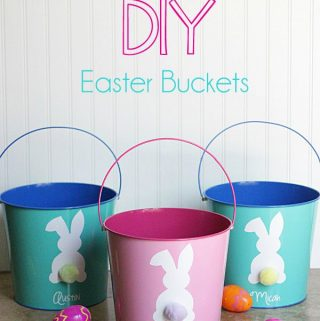 Easy DIY Easter Bucket with FREE Silhouette Cut File