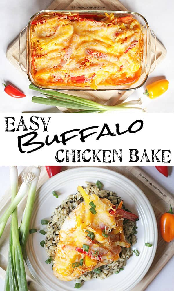Buffalo chicken bake easy dinner idea the pinning mama for Easy things to make for dinner for two