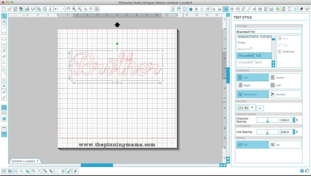 Creating an outline around your text in Silhouette Studio. Step by step tutorial.