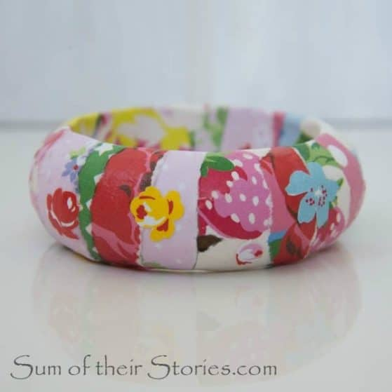 How to make a floral bangle
