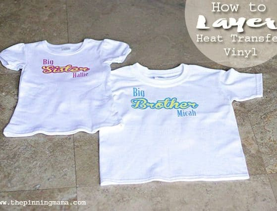 This DIY Big Brother Big Sister Shirt is SO easy to make! Silhouette CAMEO craft by www.thepinningmama.com