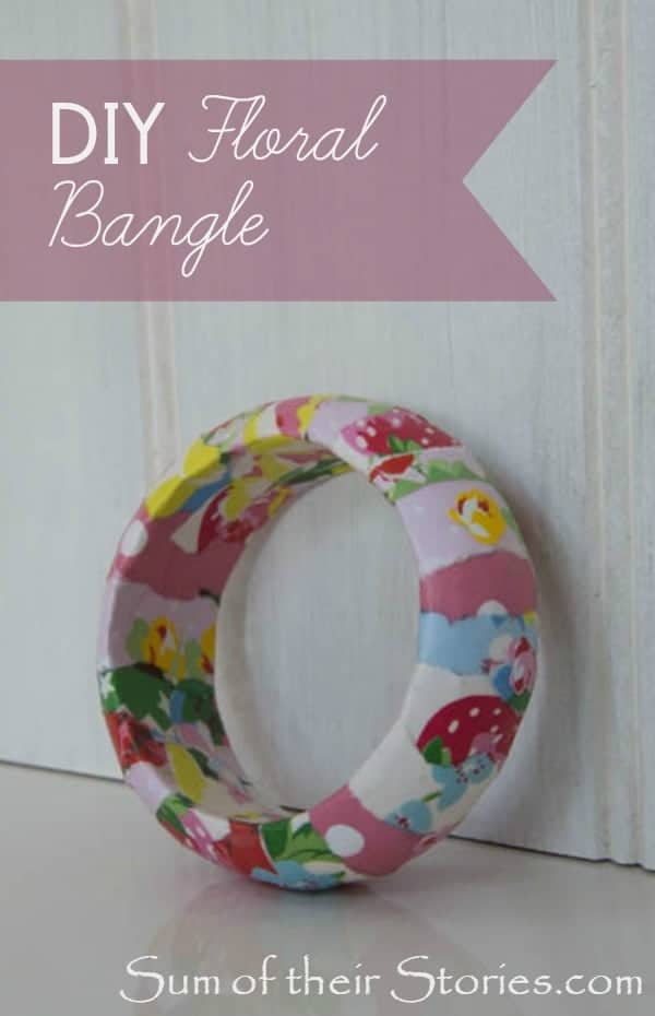 floral paper covered bangle