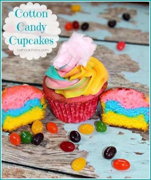 Cotton Candy Cupcakes - Over the top YUM!