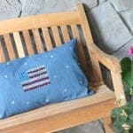 DIY Sparkling American Flag Pillow