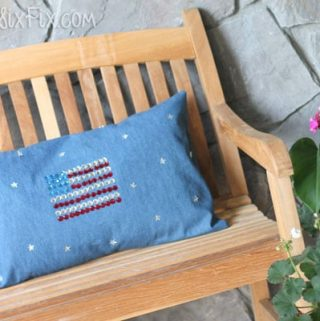 DIY Sparkling American Flag Pillow