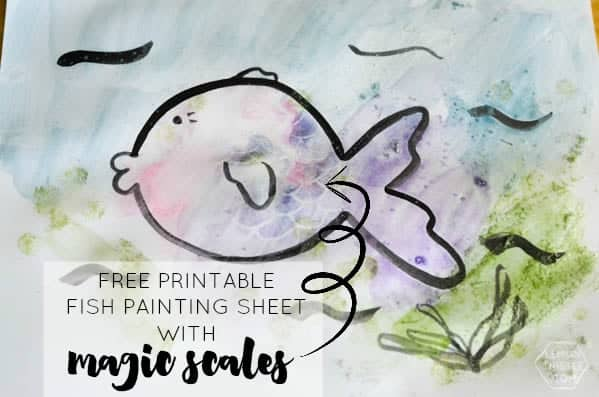 get this free printable kids painting sheet and watch the scales magically appear on it as - Painting Sheet For Kids