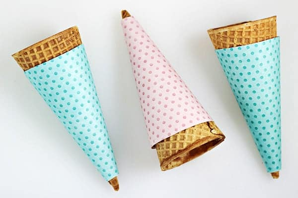 picture regarding Ice Cream Cone Template Free Printable referred to as Free of charge Printable Polka Dot Ice Product Cone Wrappers The