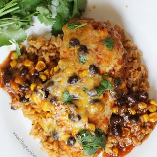 Healthy Enchilada Chicken Bake Recipe