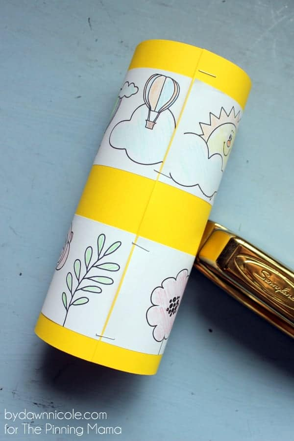 DIY Kids Coloring Page Windsock Craft | ThePinningMama.com