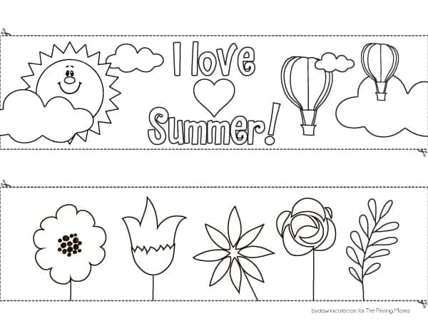 Kid\'s Coloring Page Windsock Craft • The Pinning Mama