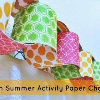 Summer Activity Paper Chain