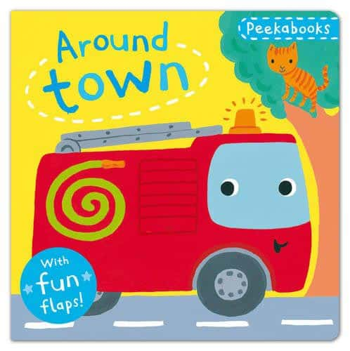 Peekabooks: Around Town: A lift-the-flap board book by Emily Bolam