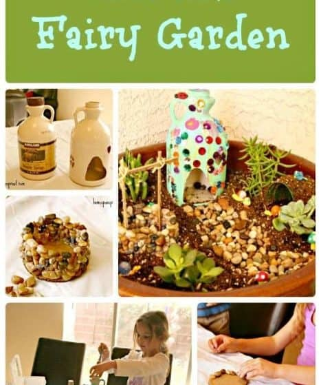 How to make a child's fairy garden. My daughter would love to do this easy kid's craft!