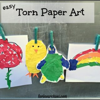 Torn Paper Art for Kids – Great for Strengthening Fine Motor Skills and Creativity