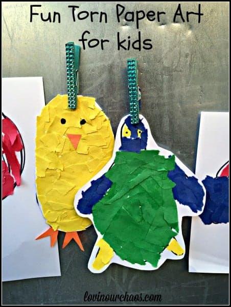 Torn Paper Art- Kindergarten Fine Motor Skills