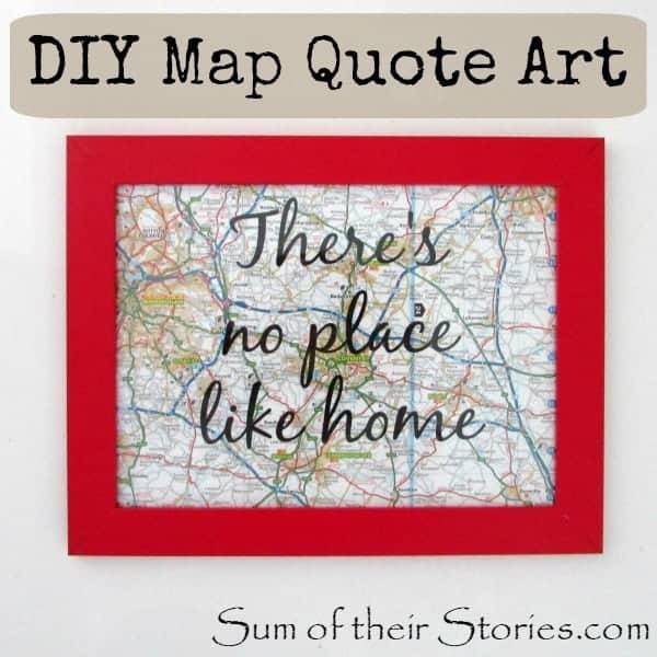 DIY map quote art 2