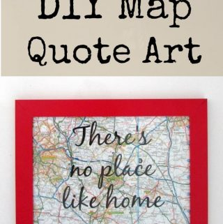 DIY Map Quote Art