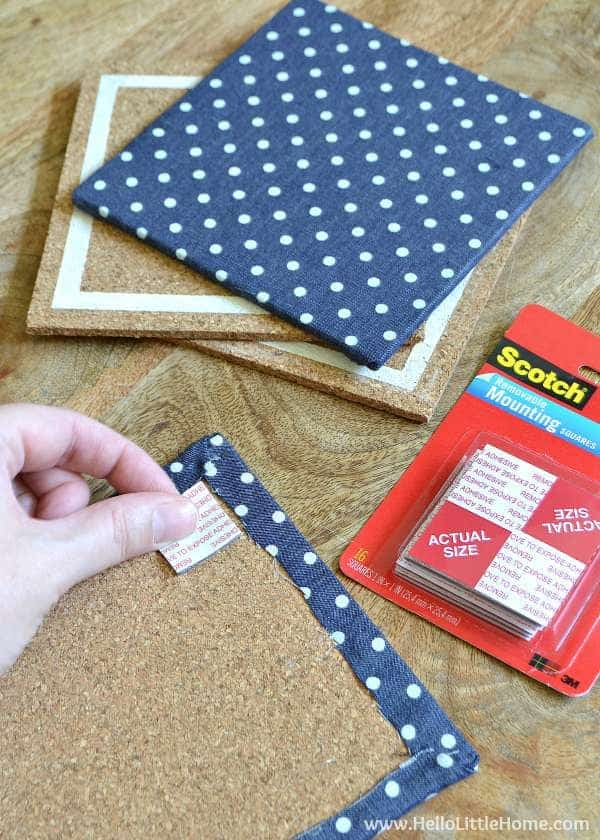 Step-by-step instructions for making a DIY Custom Memo Board! | Hello Little Home for The Pinning Mama