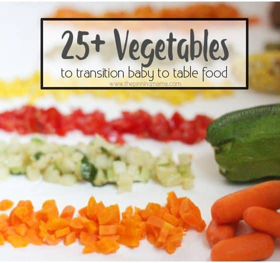 A ton of vegetables you can use for baby finger foods and how to prep!