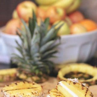 Grilled Pineapple Ice Cream Sandwich