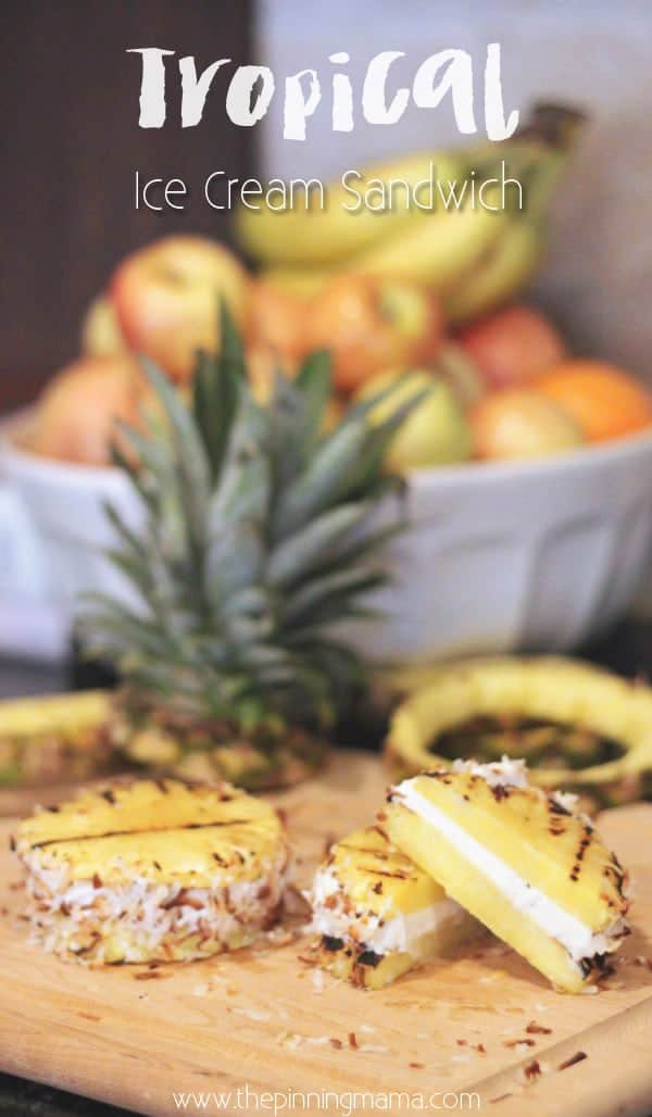 Woah! Grilled Pineapple ice cream sandwich! LOVE!
