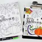 Happy Halloween Coloring Page | ThePinningMama.com