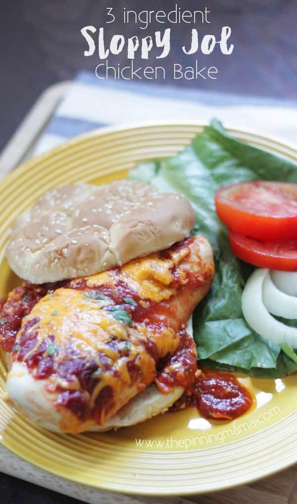 Sloppy Joe Chicken Bake Easy Family Friendly Dinner Idea The Pinning Mama
