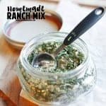 Whole30 Ranch mix recipe - gluten free, Paleo, dairy free and DELICIOUS! Click here to get more ideas on how to use it.