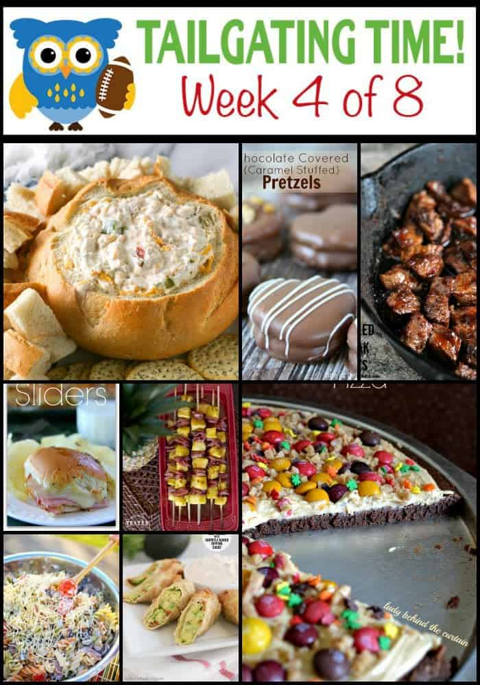 Crazy delicious recipes for watching football.  Savory, sweet and everything in between!